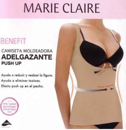 Camiseta interior mujer adelgazante + push up, Marie Claire