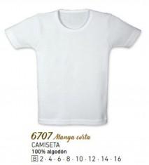 Camiseta interior infantil manga corta marca CALAMARO