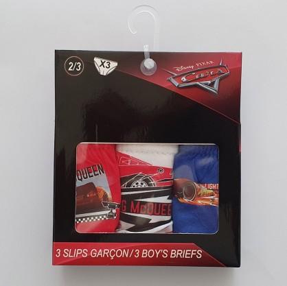 Slip niño algodon pack 3 unidades  CARS