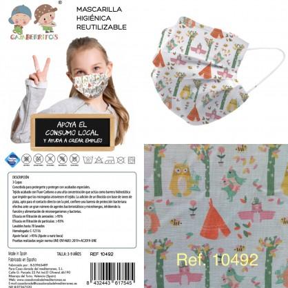 Mascarilla infantil reutilizable