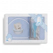Capa baño + cepillo + peine, marca Interbaby