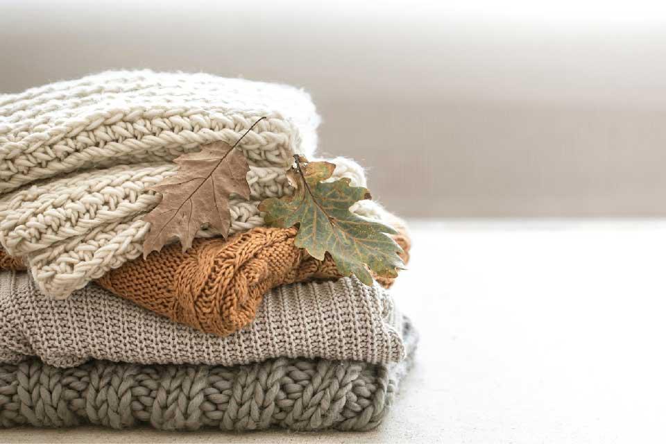 Ropa de hogar cálida para el otoño